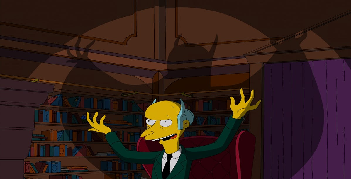 Mr Burns is my favourite evil business-man